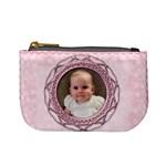 Vintage rose pale pink mini purse - Mini Coin Purse