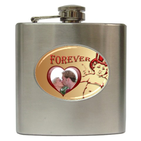 Forever Hip Flask By Deborah   Hip Flask (6 Oz)   2yhcqfxedxlc   Www Artscow Com Front
