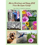 2011 Christmas card - Greeting Card 5  x 7