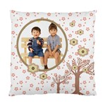 Choco Florals Fun Cushion Case - Standard Cushion Case (One Side)