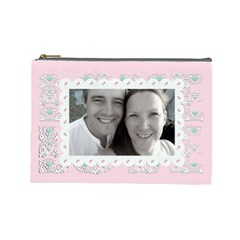 Pink Love Cosmetic Make Up Bag By Claire Mcallen   Cosmetic Bag (large)   Bm0i607el033   Www Artscow Com Front