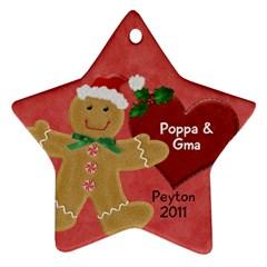 Poppa By Yvette Mouer   Star Ornament (two Sides)   Sgvs7gcwyz55   Www Artscow Com Back