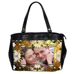 Tangled In Love Oversized (2 Sided) Office Bag By Deborah   Oversize Office Handbag (2 Sides)   W2ee8rmfajlz   Www Artscow Com Front