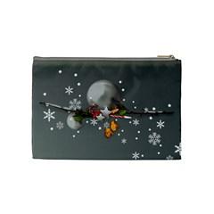 Merry Christmas Cosmetic Bag (m) By Elena Petrova   Cosmetic Bag (medium)   Be48q0culsf8   Www Artscow Com Back