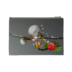 Merry Christmas Cosmetic Bag (l) By Elena Petrova   Cosmetic Bag (large)   Xe6l0vngtrju   Www Artscow Com Back