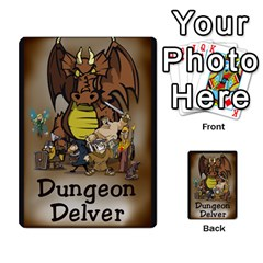 Dungeon Delver By Drew Chamberlain   Multi Purpose Cards (rectangle)   Hons7l2gm2n8   Www Artscow Com Back 9