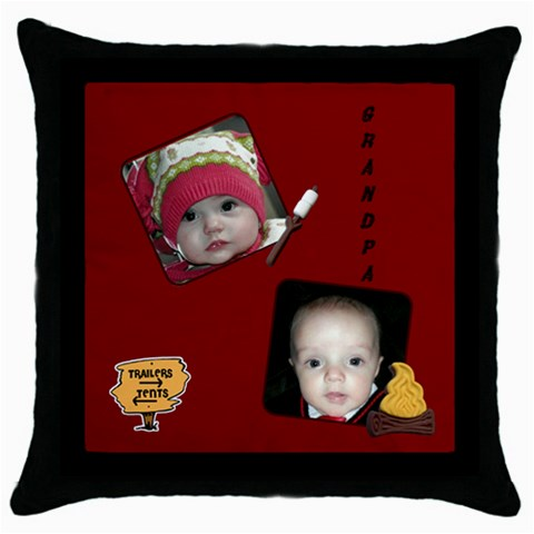 Purdy By Janelle   Throw Pillow Case (black)   Squexotw4psb   Www Artscow Com Front