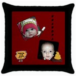 Purdy - Throw Pillow Case (Black)