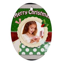Christmas By Joely   Oval Ornament (two Sides)   Dzainqmt3ifs   Www Artscow Com Back