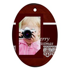 Christmas By Joely   Oval Ornament (two Sides)   Kfy8fvna0ycg   Www Artscow Com Front