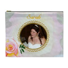 Pastel Rose Xl Cosmetic Bag By Kim Blair   Cosmetic Bag (xl)   Hrtzu9bk04uk   Www Artscow Com Front