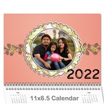 2015 Happy Family 11x8.5 - Wall Calendar 11  x 8.5  (12-Months)