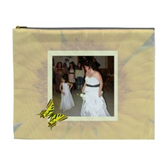 Sunflower Xl Cosmetic Bag By Kim Blair   Cosmetic Bag (xl)   Bo5dw891agq2   Www Artscow Com Front