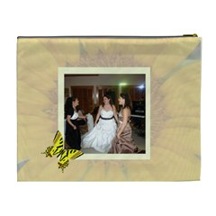 Sunflower Xl Cosmetic Bag By Kim Blair   Cosmetic Bag (xl)   Bo5dw891agq2   Www Artscow Com Back