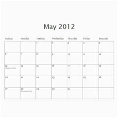 Calendar By Lenette   Wall Calendar 11  X 8 5  (12 Months)   V2h6y5adamj5   Www Artscow Com May 2012