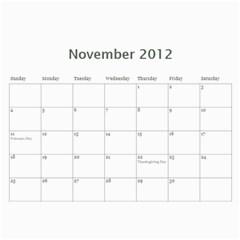 Calendar By Lenette   Wall Calendar 11  X 8 5  (12 Months)   V2h6y5adamj5   Www Artscow Com Nov 2012