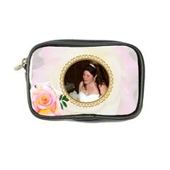 Pink Rose Coin Purse By Kim Blair   Coin Purse   7blp1e8eyhfa   Www Artscow Com Front
