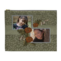 Cosmetic Bag (xl): Thankful 4 By Jennyl   Cosmetic Bag (xl)   Y47ubpfeahzi   Www Artscow Com Front