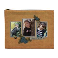 Cosmetic Bag (xl): Thankful 12 By Jennyl   Cosmetic Bag (xl)   Bfnxsvpf00b2   Www Artscow Com Front