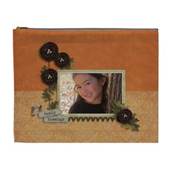 Cosmetic Bag (xl): Thankful 13 By Jennyl   Cosmetic Bag (xl)   0v8rye4o3viz   Www Artscow Com Front