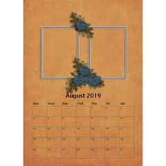 Desktop Calendar 6  X 8 5 : Cherished Memories By Jennyl   Desktop Calendar 6  X 8 5    1mos75eg3975   Www Artscow Com Aug 2016