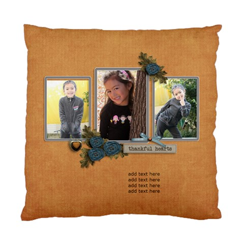 Cushion Case (one Side): Thankful 6 By Jennyl   Standard Cushion Case (one Side)   2az1kq9vzwpq   Www Artscow Com Front