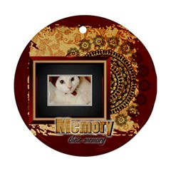 Memory Pet By Joely   Round Ornament (two Sides)   2dgtf3rxgbkd   Www Artscow Com Front