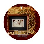 memory pet - Round Ornament (Two Sides)