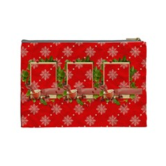 Christmas Cosmetic Bag (l) By Elena Petrova   Cosmetic Bag (large)   Jcplpfye7jo3   Www Artscow Com Back