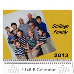 Calendar   Scilingo Family By Michelle   Wall Calendar 11  X 8 5  (12 Months)   Hsyf8s40mfuf   Www Artscow Com Cover