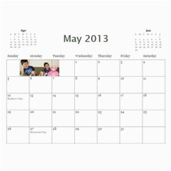 Calendar   Scilingo Family By Michelle   Wall Calendar 11  X 8 5  (12 Months)   Hsyf8s40mfuf   Www Artscow Com May 2013