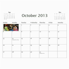 Calendar   Scilingo Family By Michelle   Wall Calendar 11  X 8 5  (12 Months)   Hsyf8s40mfuf   Www Artscow Com Oct 2013