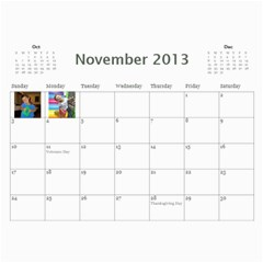 Calendar   Scilingo Family By Michelle   Wall Calendar 11  X 8 5  (12 Months)   Hsyf8s40mfuf   Www Artscow Com Nov 2013