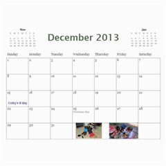 Calendar   Scilingo Family By Michelle   Wall Calendar 11  X 8 5  (12 Months)   Hsyf8s40mfuf   Www Artscow Com Dec 2013