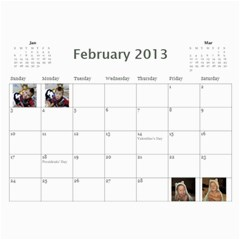 Calendar   Scilingo Family By Michelle   Wall Calendar 11  X 8 5  (12 Months)   Hsyf8s40mfuf   Www Artscow Com Feb 2013