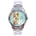 merry christmas - Stainless Steel Analogue Watch