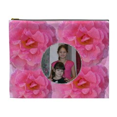 Rose Xl Cosmetic Bag By Kim Blair   Cosmetic Bag (xl)   Mwbex7x1h762   Www Artscow Com Front