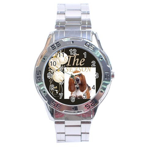 Christmas By May   Stainless Steel Analogue Watch   9c66jwh7pncr   Www Artscow Com Front
