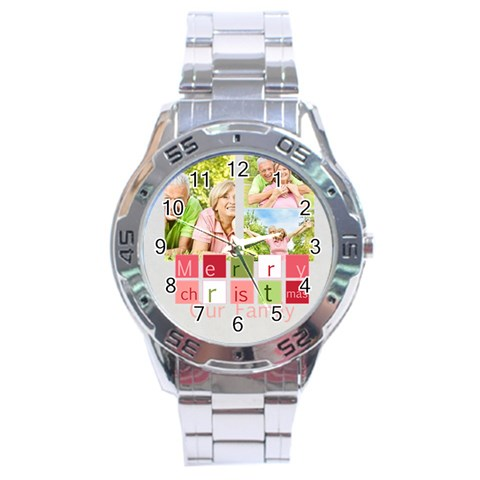 Christmas By May   Stainless Steel Analogue Watch   Xdure40u1vkh   Www Artscow Com Front