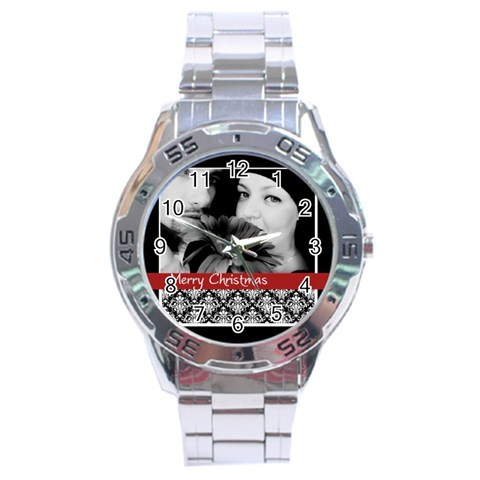 Christmas By May   Stainless Steel Analogue Watch   Muuxdoz9o51n   Www Artscow Com Front