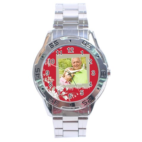 Christmas By May   Stainless Steel Analogue Watch   Mrk080dhui1i   Www Artscow Com Front