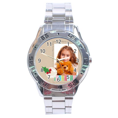 Christmas By Joely   Stainless Steel Analogue Watch   1i35spjo98ik   Www Artscow Com Front