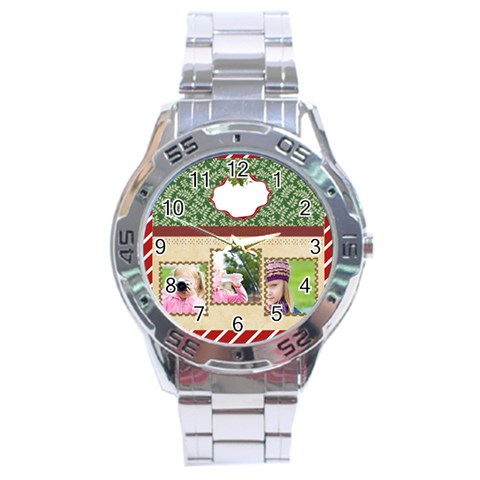 Christmas By Joely   Stainless Steel Analogue Watch   I6femytusmic   Www Artscow Com Front