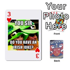 Cards For Quinns By Will   Playing Cards 54 Designs   Ybw02uaft441   Www Artscow Com Front - Heart3