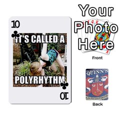 Cards For Quinns By Will   Playing Cards 54 Designs   Ybw02uaft441   Www Artscow Com Front - Club10