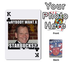King Cards For Quinns By Will   Playing Cards 54 Designs   Ybw02uaft441   Www Artscow Com Front - ClubK