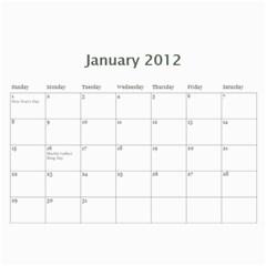 Calendario Jose By Edna   Wall Calendar 11  X 8 5  (12 Months)   Rcuvkt3olnfi   Www Artscow Com Jan 2012