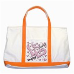Named Love Hearts Tote - Two Tone Tote Bag