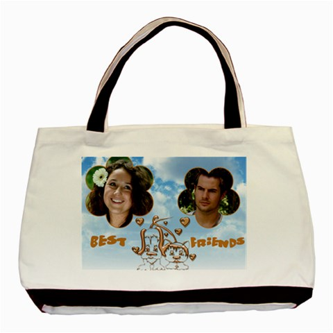 Best Friends Tote By Deborah   Basic Tote Bag   Kfaewar01fok   Www Artscow Com Front