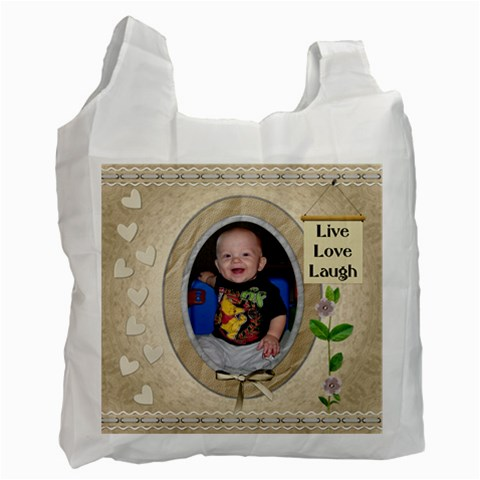 Live Love Laugh Recycle Bag (1 Side) By Lil    Recycle Bag (one Side)   7iat4vk2of17   Www Artscow Com Front